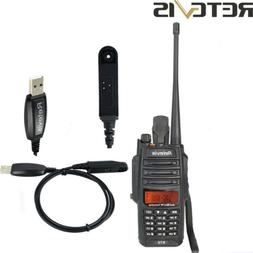 Retevis RT6 Walkie Talkies IP67 128CH 5W VHF+UHF Battery Sav