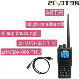 Walkie Talkies Retevis RT84 DMR Handheld Digital Radio UHF+V