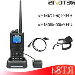 RetevisRT84 VOX UHF/VHFDual Band 3000CH 5W DMR Alarm Walkie