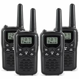 RV-7 Walkie Talkies Long Range 4 Pack 2-Way Radios Up to 5 M