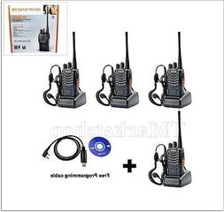 Set 4 Baofeng Two Way Ham Radio UHF Walkie Talkie Communicat