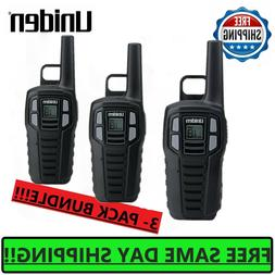 Uniden SX167-3CH Black 16 Mile 2 Way FRS/GMRS Radios Pack Of