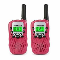 BaoFeng T-3 Kids Walkie Talkie Two Way Radio , Pink + Velvet