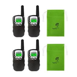 BaoFeng T-3 Kids Walkie Talkie Two Way Radio , Black + SainS
