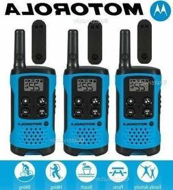 Motorola T100TP TalkAbout 2-Way Radios 16-Mile Blue Walkie T
