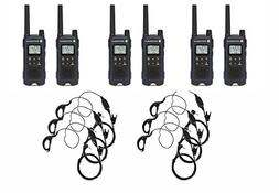 Motorola T460 Two-Way Radio/Walkie Talkie 6 Pack with 6 Curl