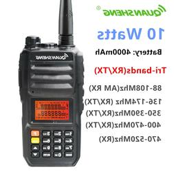 QuanSheng TG-UV2 Plus 10 Watts Tri-band  Walkie Talkie Ham T