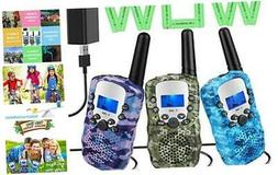 Topsung 3 Walkie Talkies for Kids Adults Rechargeable Walkie