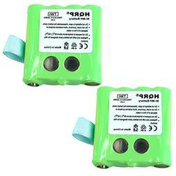HQRP Two Batteries for Motorola KEBT-072, KEBT-072-A, KEBT-0