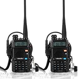 Ansoko Two Way Radio with Acoustic Tube Earpiece Dual Band w