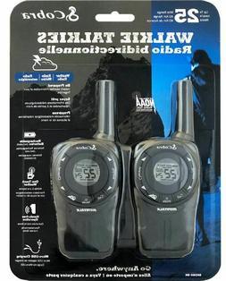 Cobra Two-Way Walkie Talkies 2 Radios w/ Backlight LCD SH360