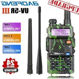 Upgraded BAOFENG UV-5R III Tri-Band Camo FM Walkie Talkie 2