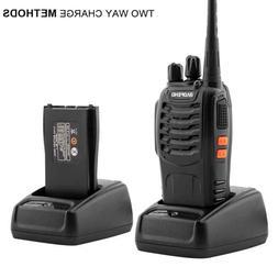 2pcs/Pair BF-888S Walkie Talkie 5W 400-470MHz Handheld Black