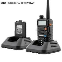 BaoFeng UV-5R 5W Dual-Band DTMF FM Ham 2 Way Radio Walkie Ta