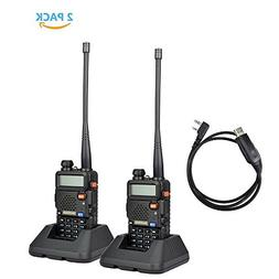 2Pack Baofeng UV-5R Dual-Band 136-174/400-480 MHz Ham Two-wa