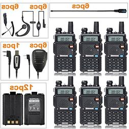 BaoFeng Radio UV-5R Dual Band Two Way Radio  + 6 NA-771 Ante