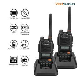 Floureon v8 Radio 1500mAh Battery Walkie Talkies 2 Pack Two-