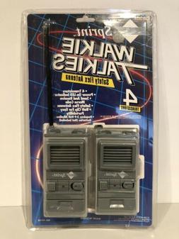 Vintage 1993 Sprint Walkie Talkies Safety Flex Antenna 4 Tra