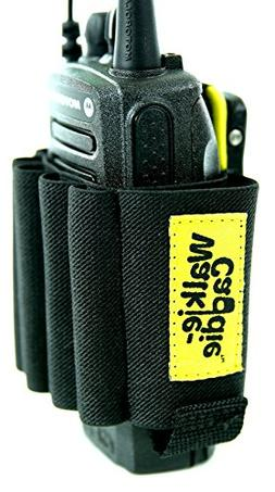 Walkie Caddie Yellow Accessory Pouch for Walkie Talkies for