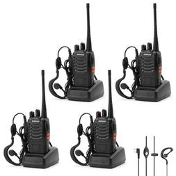 Walkie Talkie 4 Pack Baofeng bf-888s 2 Way Radio Long Range