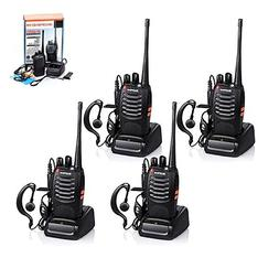 4pcs Baofeng Walkie Talkie, BF-888S Two Way Radio UHF Handhe