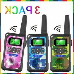 Walkie Talkie Kids 3 Pack Long Range 22 Channels 2 Way Radio