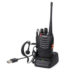 eSynic Walkie Talkie 1 pcs Long Range Two-Way Radio USB Cabl