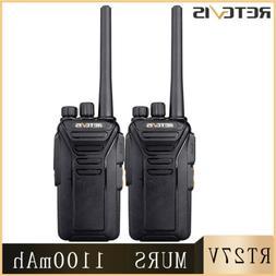 Retevis  Walkie Talkie RT27 VHF MURS 5CH 2-Way Radio License