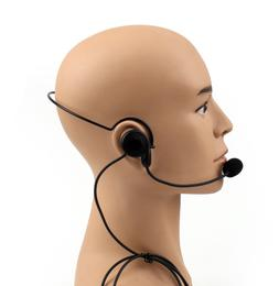 Walkie Talkie Two-Way Headset Earpiece Boom Mic VOX Voice Ac