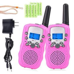 MeGaLuv Walkie Talkies for Kids 22 Channels Long Range Recha