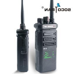 Walkie Talkies 10W Portable Two Way Radios UHF400-480MHz wit