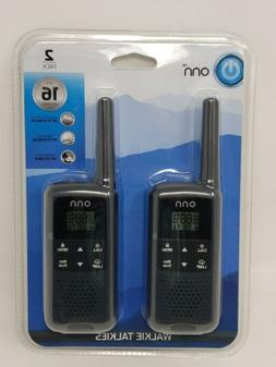Onn Walkie Talkies, 2 Pack, 22 Channels, Up To 16 Miles, Inc