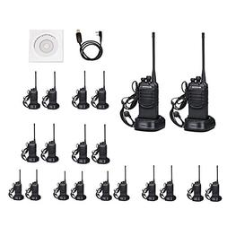 Walkie Talkies 2 Ways Radio Long Range and Reachargeble Baof