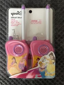 Disney Walkie Talkies 49 MHz 100-120 Feet Princess Ages 3+ N
