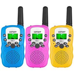 Tintec 3 Pack Walkie Talkies, 22 Channels 2 way Radio Toy wi