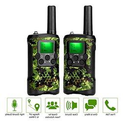 ieGeek Walkie Talkies for Kids, Handheld 2 Way Radio with Fl