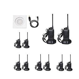 BAOFENG Walkie Talkies with Earpieces Mic and Reachargeble B