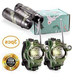 Petask Kids Walkie Talkies and Binoculars for Kids - Outdoor