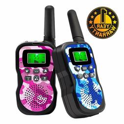 Walkie Talkies for Kids, 2-Way Radios 3 Mile Backlit LCD Dis