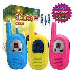 inYYTer Walkie Talkies for Kids 3 Pack, 2 Mile FRS Walkie Ta
