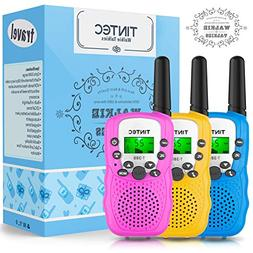 Tintec 3 Pack Walkie Talkies Gift Box, 22 Channels 2 Way Rad