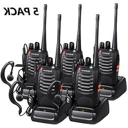 Walkie Talkies Long Range with Earpiece Mic Handheld VHF/UHF