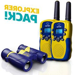 USA Toyz Kids Walkie Talkies with Binoculars - Vox Box Voice