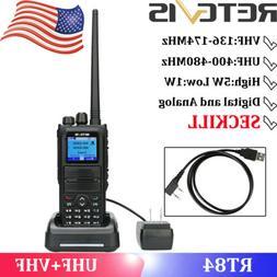 Walkie Talkies Retevis RT84 UHF+VHF DMR Handheld Digital Rad