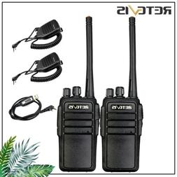 Walkie Talkies UHF FRS VOX Two Way Radio+Mic+cable 2W squelc