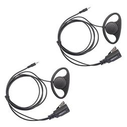 Lot 2 x Coodio D-Ring Earpiece Police Security Headset inlin