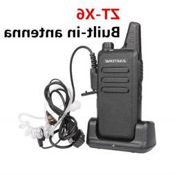 Zastone X6 Mini Rechargeable Two-Way Radios Earpiece UHF Wal