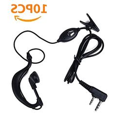 Ybee Newest 10 Pack Earpiece Headset Mic for Baofeng UV 5R/5